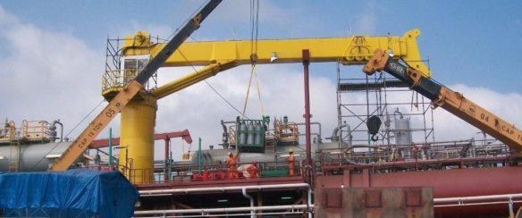 Telescopic Crane Marine : Offshore crane find here cranes and port